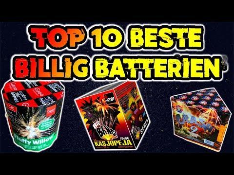 TOP 10 BESTE BILLIG BATTERIEN | UNTER 10€ | Feuerwerk