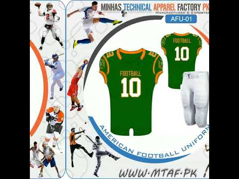 Sublimated American Football Jersey / American Football Wear / American Football Jersey / American Football Pants / Cap Sleeve Jersey