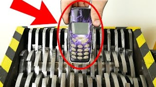Shredding NOKIA Phones !! - The Shredder Show                - Experiment At Home
