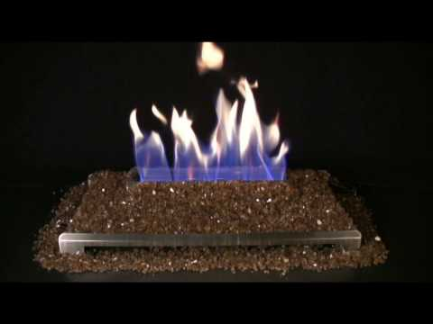 Alterna Copper FireGlitter Set for See-through Fireplaces - Vent-Free Stainless steel Chassis Burner