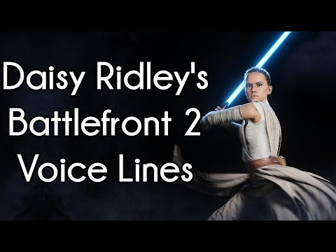 Daisy Ridley Voice Lines in Star Wars: Battlefront 2 (2017)