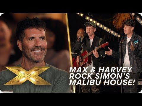 Max & Harvey shake off nerves to rock Simon Cowell's Malibu home! | X Factor: Celebrity