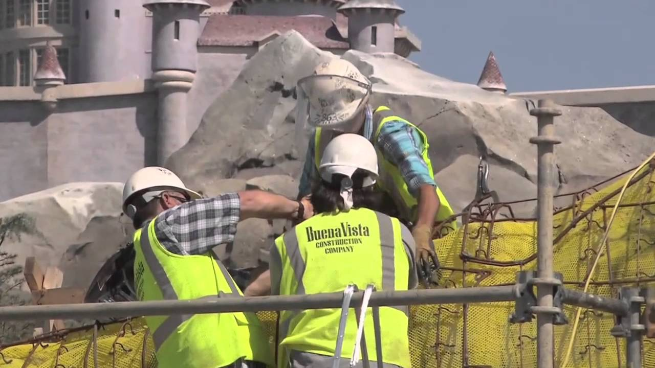 Inside the Seven Dwarfs Mine Train construction site