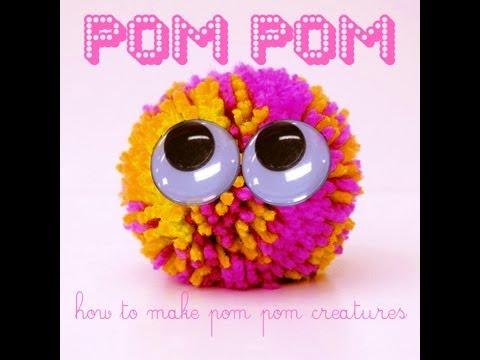 Fun KiDS craft : How to make a pompom!