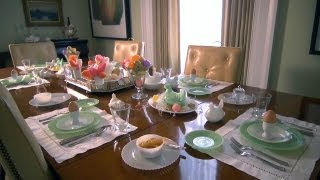 Easter Table Setting | At Home With P. Allen Smith