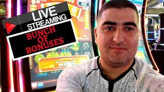 Max Bet Live Stream Slot Play , Bonuses & Big Wins ! Rising Fortunes,Lighting Link,5 Treasures