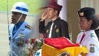 Video Upacara Peringatan Detik-detik Proklamasi Kemerdekaan Republik Indonesia di Istana Presiden