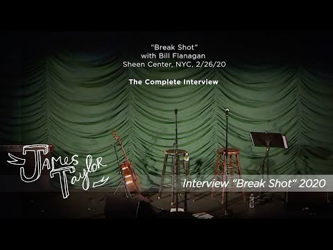 """""""Break Shot"""" the complete interview  (NYC, February 26, 2020)"""