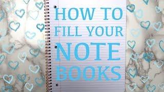 7 Ways To Fill an Empty Notebook! Creative Journal Ideas