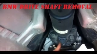 BMW e46 drive shaft removal. How to take off the drive shaft on a 1999-2005 BMW e46