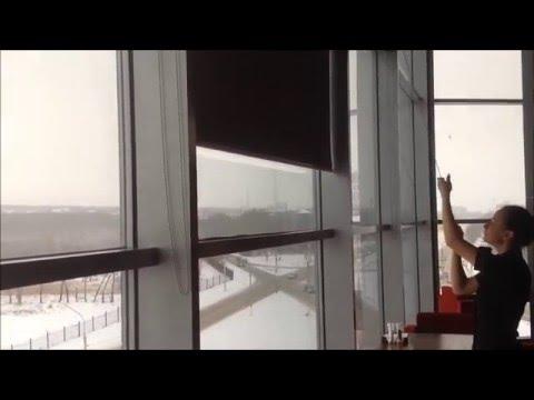 Рулонные шторы на большие окна. Жалюзи Мастер. Магнитогорск, Екатеринбург.