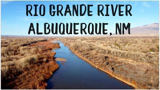 DJI Mavic Mini Drone Flight Over the Rio Grande River in Albuquerque, NM