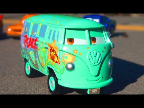 ☮ Disney CARS 2 Race Team Fillmore Diecast ☮ Pixar Mattel Toys Radiator Springs Toy Review ☮