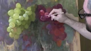 Смотреть онлайн Как нарисовать виноград гуашью