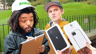 95% of iPhone Users Didn't Know THIS... – I Gave New Phones to Strangers