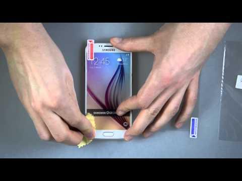 Samsung Galaxy S6 - Schutzfolie blasenfrei anbringen (Tutorial)