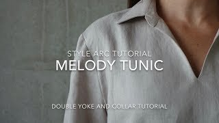 Melody Tunic Sewing Pattern - Style Arc Sewing Tutorial - Double Yoke And Collar Tutorial