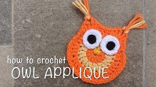 How To Crochet Owl Applique