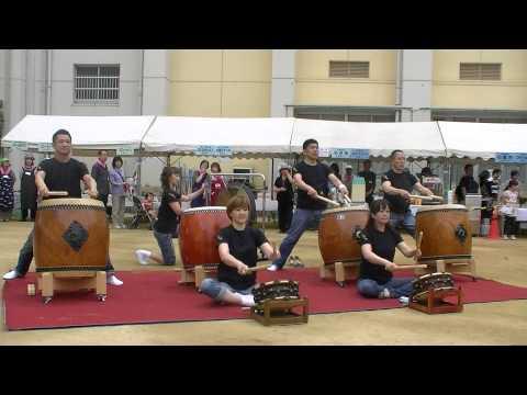 大江太鼓奏/♪いぶき♪(2013/5/19桃陽小学校)