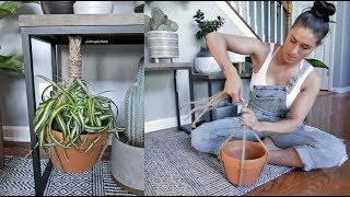 Making A Super Easy Rope Hanging Planter