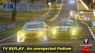 GT Sport - TV REPLAY An unexpected Podium - FIA Manufacturers 2018 Season 2 Race 2