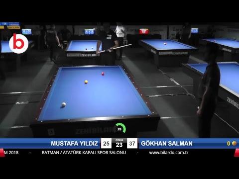 MUSTAFA YILDIZ & GÖKHAN SALMAN Bilardo Maçı - 2018 ERKEKLER 3.ETAP-5.TUR