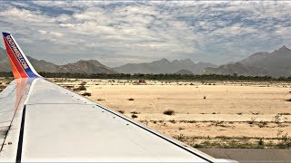 Los Cabos Airport Amazing Takeoff! | Southwest Airlines | SJD-LAX | 737-700 |