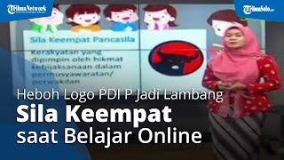Heboh Logo PDI P Jadi Lambang Sila Keempat saat Belajar Daring, Dispendik Surabaya Minta Maaf