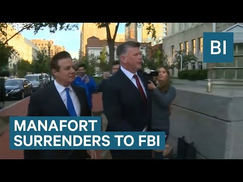 Trump's former campaign chairman surrenders to the FBI