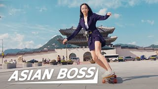 Learning To Longboard Dance With Viral Skater Sensation Hyojoo | EVERYDAY BOSSES #26