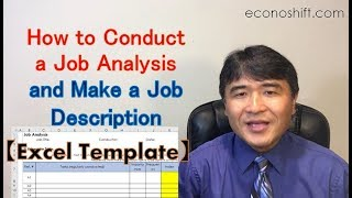 How to Conduct a Job Analysis and Make a Job Description【Excel Template】