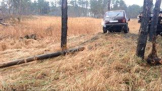 НИВА! Работа в лесу. Трелёвка леса Нивой. Кто сказал, что нива хреновая машина?!)