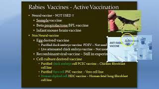 Microbiology 514 a Anti Rabies Vaccine Immuno Prophylaxis Dog bite Treatment Virus Non Neural Essen