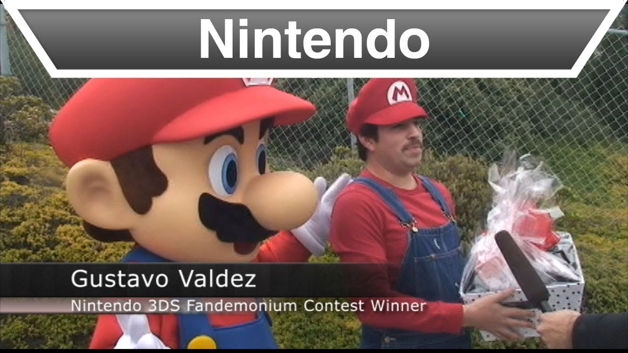 Would You Dress Like Mario For A Month For A Free 3DS? He Would