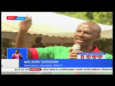 KNUT SG, William Sossion urges IEBC chair Wafula Chebukati to postpone repeat presidential elections