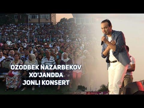 Ozodbek Nazarbekov Xo'jandda jonli konsert berdi va gullarga ko'mildi!