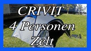 Vier Personen Zelt für 35,- €   Lidl Angebot 2018   Crivit Zelt