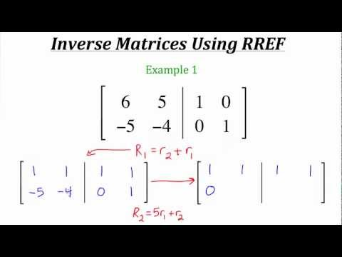 A skimpy introduction to inverse matrices (student stuff
