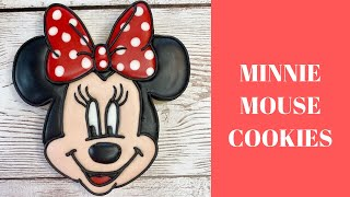 How To Decorate MINNIE MOUSE Cookies #MinnieMouse #CookieDecorating #SugarCookies