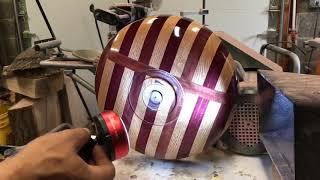 #17 - Wood Turning - Purple Heart and red oak laminate bowl