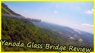 Yanoda Glass Bridge Review in China. Glass Bridge Yanoda Rain Forest Park Hainan Island City