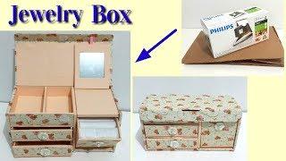 DIY Jewelry Box Dari Kardus Bekas