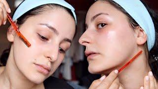 So rasiere ich mein Gesicht (Fehler & Tipps) + Hautpflege Haul | mwHANNAH