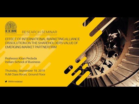 Effect of International Marketing Alliance Dissolution