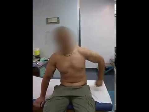 Mini complessa terapia fisica della colonna cervicale