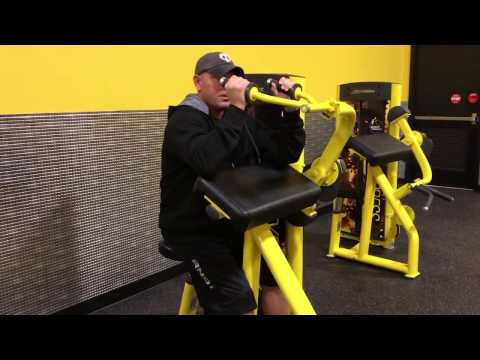 Planet Fitness Triceps Machine - How to use the triceps machine at Planet Fitness