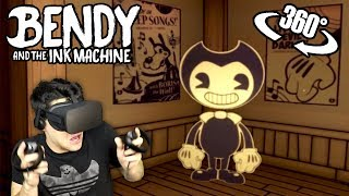BENDY WANTS TO MAKE ME SUFFER IN VR! - Bendy and the Ink Machine 360 (Oculus Rift)