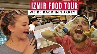 Izmir's Bomba Turkey's Best Desert?    Izmir Food Tour   Full Time Travel Vlog 13