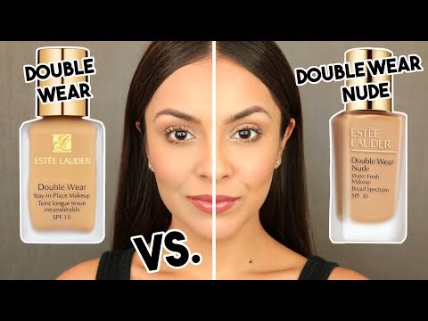 Estee Lauder DOUBLE WEAR NUDE Water Fresh Foundation VS DOUBLE WEAR ORIGINAL - TrinaDuhra