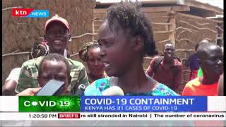 Turkana residents living in slums benefit from a community organization distributing sanitizers